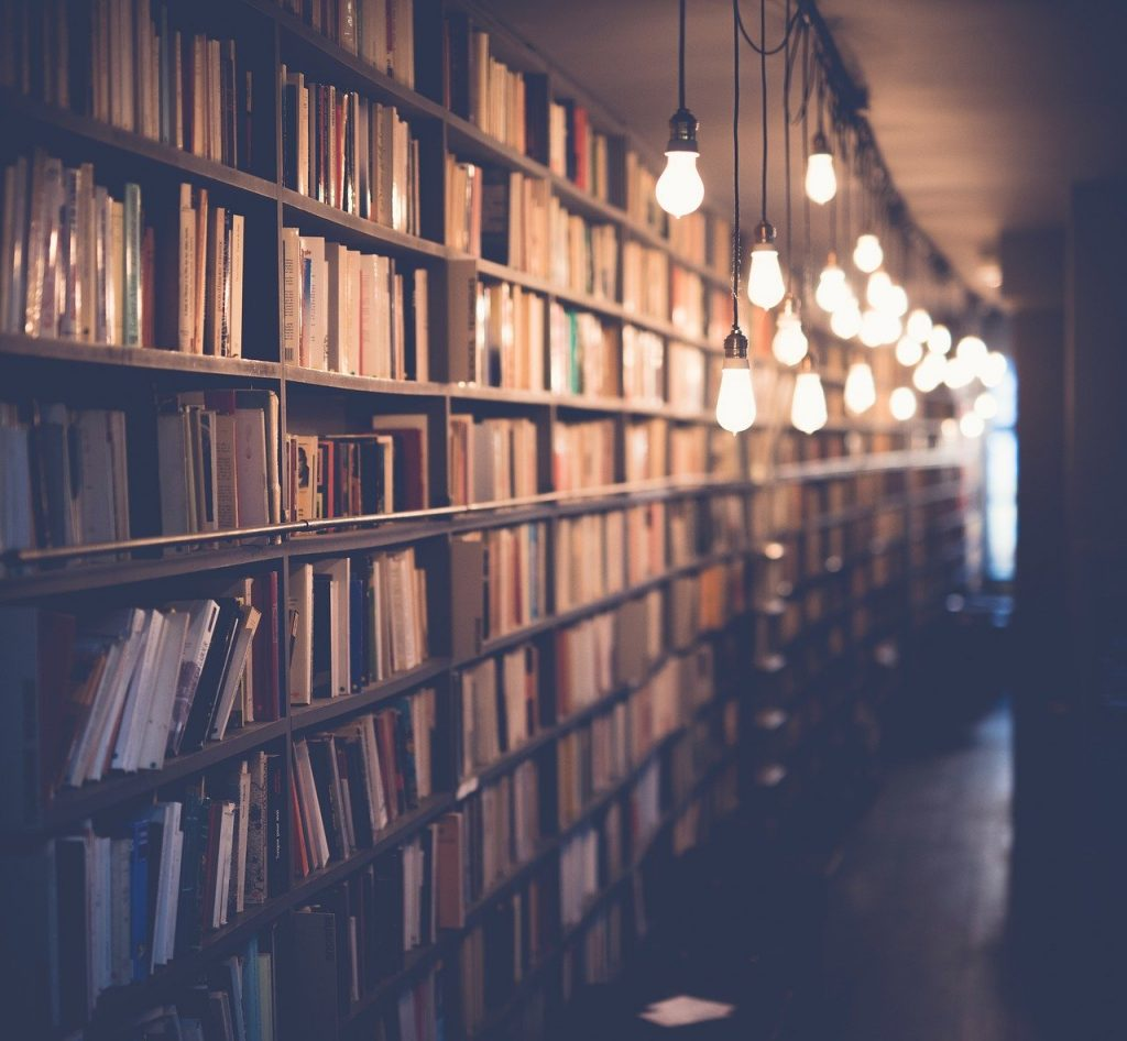 books, library, room